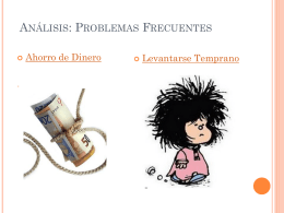 Análisis: Problemas Frecuentes