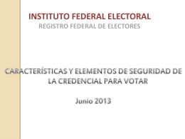 Modelo de la Credencial para Votar Reforma