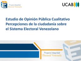 Percepciones sobre el sistema electoral