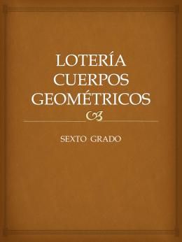 LOTERÍA CUERPOS GEOMÉTRICOS