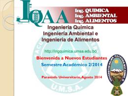 Facultad de Ingeniería Química - carrera de ingeniería química