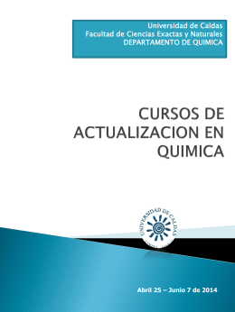 MAESTRIA EN QUIMICA - Universidad de Caldas