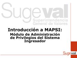 Introducción a MAPSI