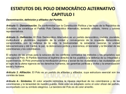 ESTATUTOS DEL POLO DEMOCRÁTICO ALTERNATIVO CAPITULO I