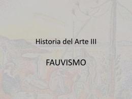 Fauvismo - Historia del Arte III