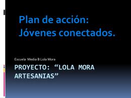 Proyecto: *LOLA MORA ARTESANIAS*
