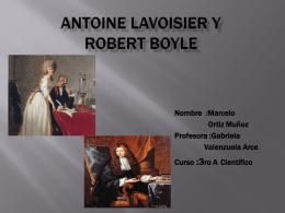 Antoine Lavoisier y