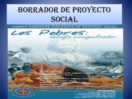 Manual para elaborar un proyecto social