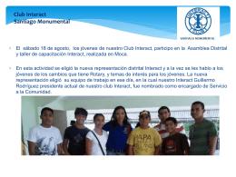Presentación de PowerPoint - Club Rotario Santiago Monumental