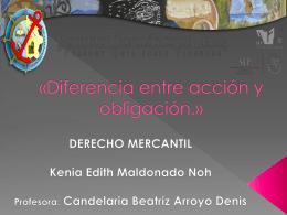 «Diferencia entre acción y obligación.»
