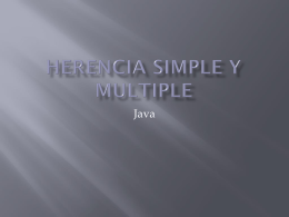 Herencia simple y multiple