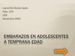 Embarazos en adolescentes a temprana edad