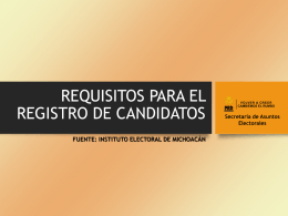requisitos para el registro de candidato