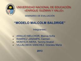 MODELO BALDRIGE -expo - Promoción 2013