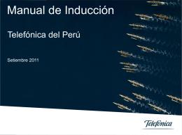 Manual de Induccion de Telefónica del Perú