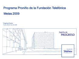 Programa Proniño - Fundación Telefónica