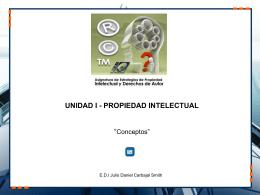 unidad i - propiedad intelectual