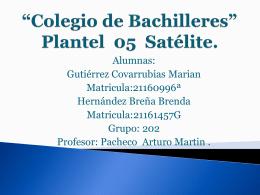 *Colegio de Bachilleres* Plantel 05 Satélite.
