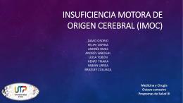 Insuficiencia motora de origen cerebral (IMOC)
