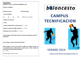 Inscripción - Centro Asturiano de Oviedo