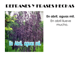 REFRANES Y FRASES HECHAS