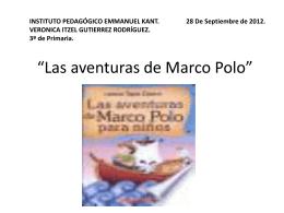 Las aventuras de Marco Polo - Instituto Pedagógico Emmanuel Kant