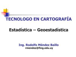 Estadística y geoestadística