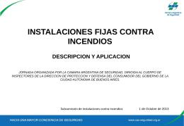 Slide 1 - Instalaciones Fijas Contra Incendios