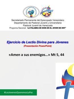 Lectio Divina - Pastoral Juvenil de Venezuela