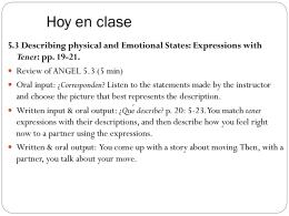 Hoy en clase - Personal.psu.edu