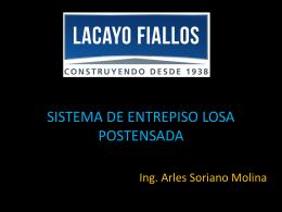 SISTEMA DE ENTREPISO LOSA POSTENSADA