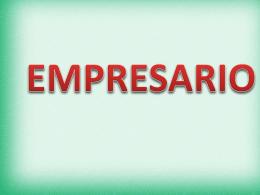 CLASE empresario - emprendimientosallebello