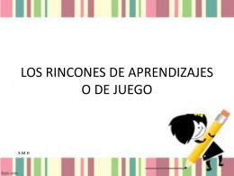 LOS RINCONES DE JUEGO