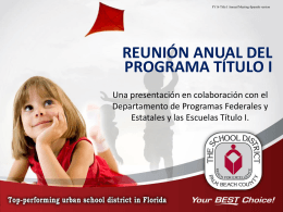 Participación de los Padres - the School District of Palm Beach County