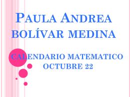 Paula Andrea bolívar medina
