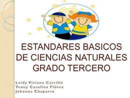 ESTANDARES DE 3 CIENCIAS NATURALES.
