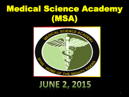 Medical science Assembly June 2015