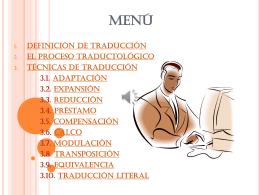 traduccion - TICS Y LENGUAS EXTRANJERAS