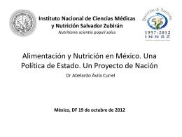 Avances y retos sobre obesidad y desnutrición en la población en