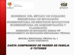 Presentación de PowerPoint - Escuela Secundaria Técnica 1 Durango