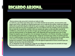 RICARDO ARJONA - WordPress.com