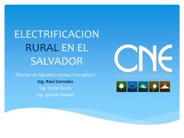ELECTRIFICACION RURAL EN EL SALVADOR