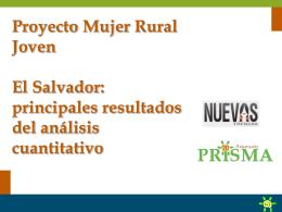 El Salvador: principales resultados del análisis cuantitativo