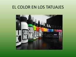 EXPO EL COLOR EN LOS TATUJES