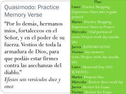 Quasimodo: Practice Memory Verse