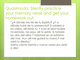 Silently practice your memory verse and get your homework out.