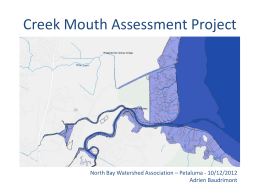 Creek Mouth level - North Bay Watershed Association
