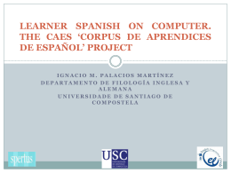 LEARNER SPANISH ON COMPUTER. THE CAES