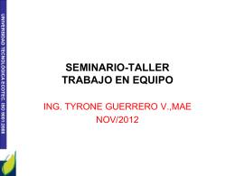 Trabajo en equipo - Blog personal de Tyrone Guerrero