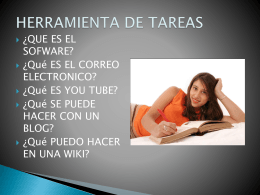 HERRAMIENTA DE TAREAS